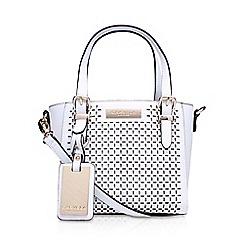 Carvela - White 'Micro Din' cut out handbag with shoulder straps