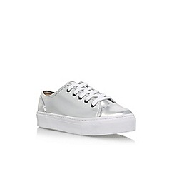 Carvela - Silver 'Maddy' flat lace up sneakers