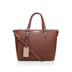 Carvela - Brown 'Danna cutout tote' handbag with shoulder straps