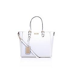 Carvela - White Dina woven winged tote handbag with shoulder straps