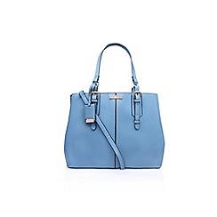 Carvela - Blue Ortha large slouch tote handbag with shoulder straps