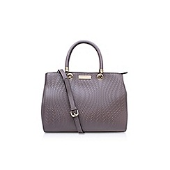Carvela - Brown Darla woven tote handbag with shoulder straps