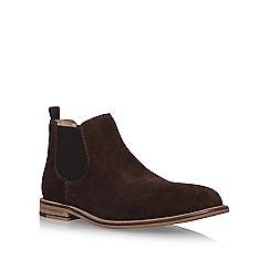 KG Kurt Geiger - Brown 'Halstead' flat chelsea boots