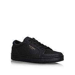 KG Kurt Geiger - Black 'VALADEZ' flat lace up sneakers