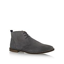 KG Kurt Geiger - Grey 'Kintore' flat lace up desert boots