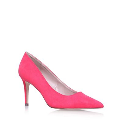 carvela pink kray2 high heel court shoes debenhams
