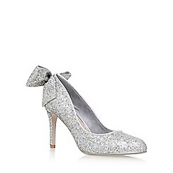 Miss KG - Silver 'Coral' high heel court shoes