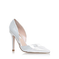 Miss KG - Silver 'Caitlyn' high heel court shoes