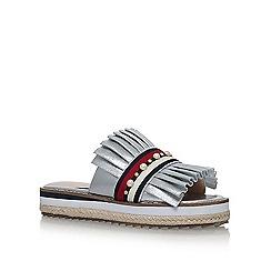 KG Kurt Geiger - Silver 'Madamme' flat sandals