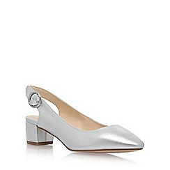 Nine West - Silver 'Brigitte3' mid heel sandals