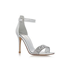 Nine West - Silver 'Mana11' high heel sandals