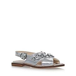 Nine West - Silver 'Ostina3' flat sandals