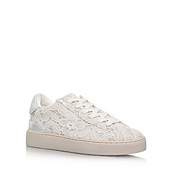 Nine West - Brown 'Palyla2' flat lace up sneakers