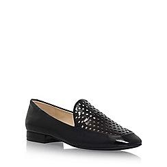 Nine West - Black 'Xavio' flat slip on loafers