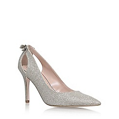 Miss KG - Silver 'Sayde' high heel court shoes
