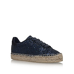 KG Kurt Geiger - Blue 'Billie' flat lace up sneakers