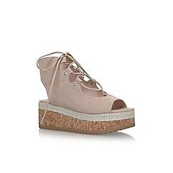 KG Kurt Geiger - Natural 'Benny' flat sandals