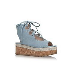 KG Kurt Geiger - Blue 'Benny' flat sandals