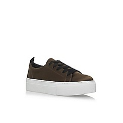 KG Kurt Geiger - Brown 'Ginny' flat lace up sneakers