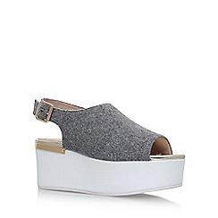 KG Kurt Geiger - Grey 'Bells' high heel sandals