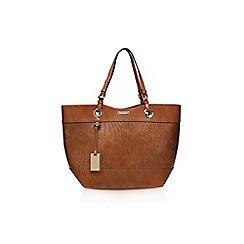 Carvela - Brown 'Lucinda' weaved shopper handbag with shoulder straps