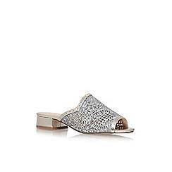 KG Kurt Geiger - Gold 'Mojave' flat sandals