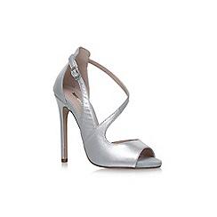 Carvela - Silver geep high heel sandals
