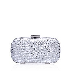 Miss KG - Silver 'Heat' clutch bag