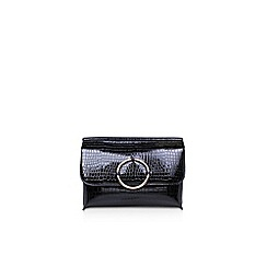 Miss KG - Black Hoop clutch bag