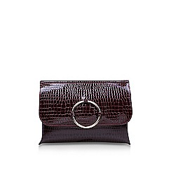 Miss KG - Wine 'Hoop' clutch bag