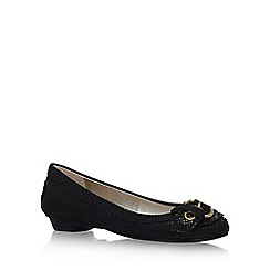 Anne Klein - Black 'Mady' flat slip on pumps