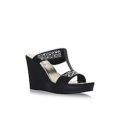 Carvela Comfort - Black 'Shola' high heel wedge sandals
