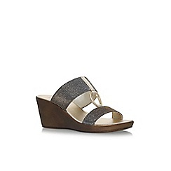 Carvela Comfort - Grey salt high heel sandals