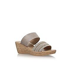 Solea - Brown 'Saskia' mid heel sandals
