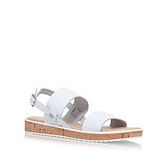 Nine West - White 'Gia' flat sandals