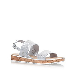 Nine West - Silver 'Gia' flat sandals