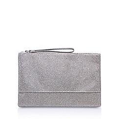 Miss KG - Silver 'Thea' clutch bag
