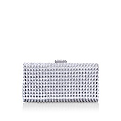 Miss KG - Silver twinkle clutch bag