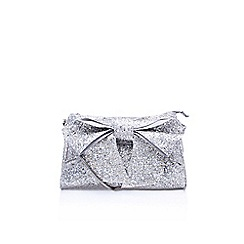Miss KG - Silver 'Tutu' clutch bag