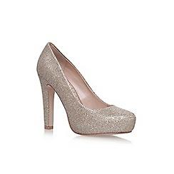 Miss KG - Gold 'Annie' high heel court shoes