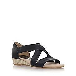 Anne Klein - Black 'Nicco' flat sandals