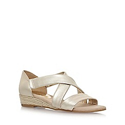 Anne Klein - Gold 'Nicco' flat sandals