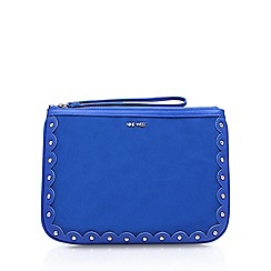 Nine West - Blue 'Enrin Wrislet' clutch bag