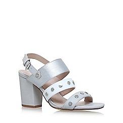 Nine West - Silver 'Bold' high heel sandals