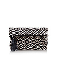 Nine West - Black 'Genna' clutch cross body bag