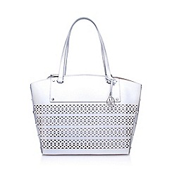 Nine West - Silver 'Sheer Genuis Tote LG' handbag with shoulder straps