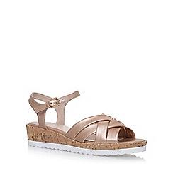 Nine West - Gold 'Leoni' flat sandals