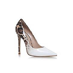 Carvela - White 'Alice' high heel court shoes