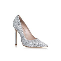 Carvela - Silver 'Alice' high heel court shoes