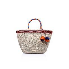 Carvela - Multicoloured penny raffia bag tote bag
